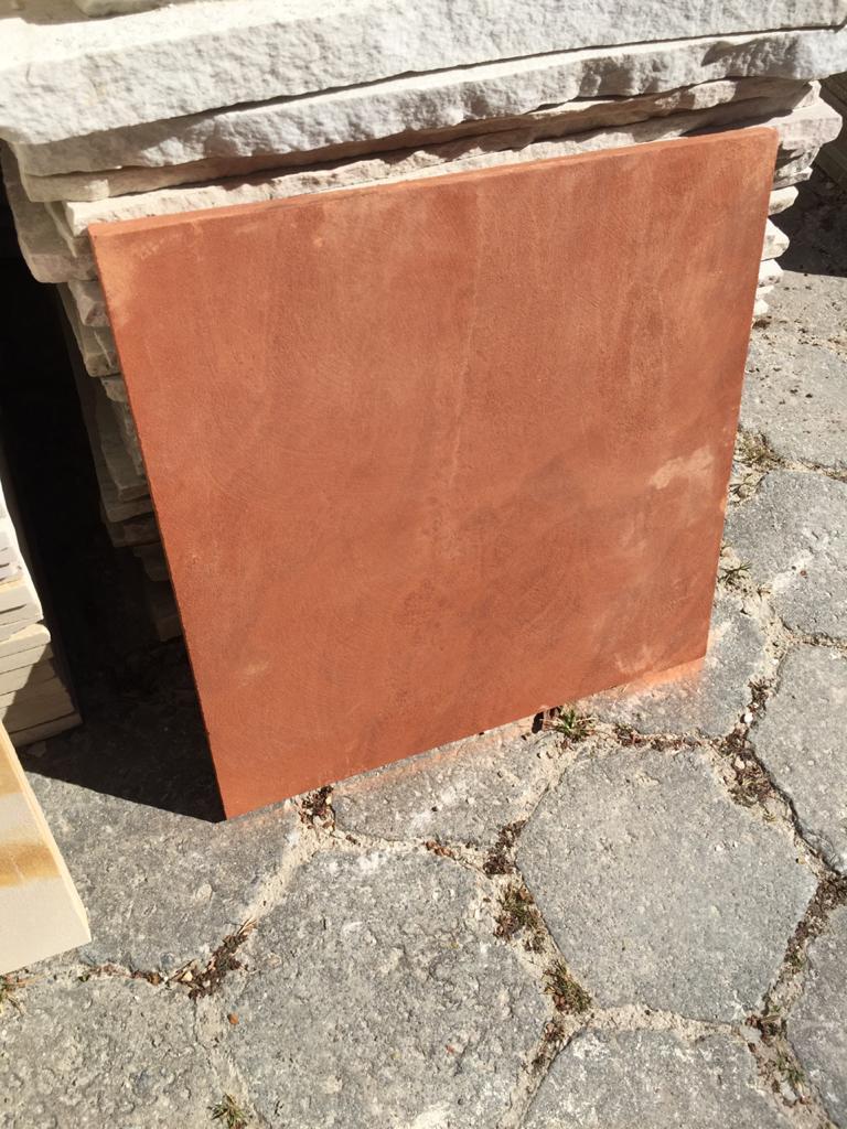 Pedra arenito vermelho 50x50cm